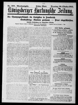 Königsberger Hartungsche Zeitung vom 26.10.1915