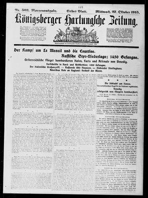 Königsberger Hartungsche Zeitung vom 27.10.1915