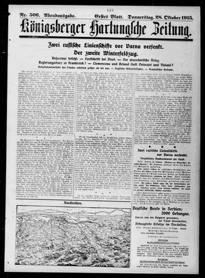 Königsberger Hartungsche Zeitung vom 28.10.1915