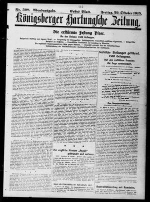 Königsberger Hartungsche Zeitung vom 29.10.1915