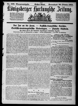 Königsberger Hartungsche Zeitung vom 30.10.1915