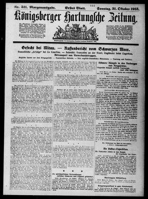 Königsberger Hartungsche Zeitung on Oct 31, 1915