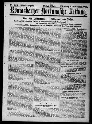 Königsberger Hartungsche Zeitung vom 02.11.1915