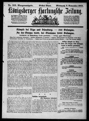 Königsberger Hartungsche Zeitung on Nov 3, 1915