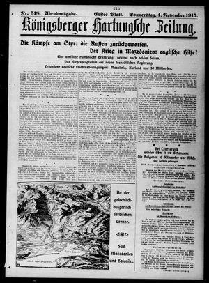 Königsberger Hartungsche Zeitung vom 04.11.1915
