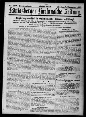 Königsberger Hartungsche Zeitung vom 05.11.1915