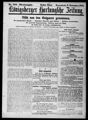 Königsberger Hartungsche Zeitung vom 06.11.1915