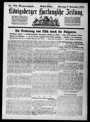 Königsberger Hartungsche Zeitung vom 07.11.1915