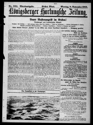 Königsberger Hartungsche Zeitung vom 08.11.1915