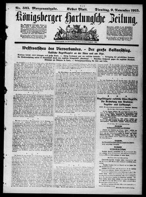 Königsberger Hartungsche Zeitung vom 09.11.1915