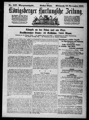 Königsberger Hartungsche Zeitung vom 10.11.1915