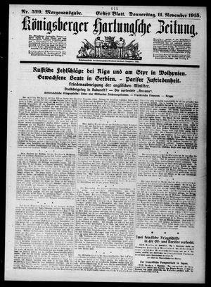 Königsberger Hartungsche Zeitung vom 11.11.1915