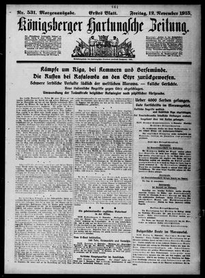 Königsberger Hartungsche Zeitung vom 12.11.1915