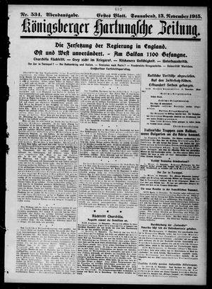 Königsberger Hartungsche Zeitung vom 13.11.1915