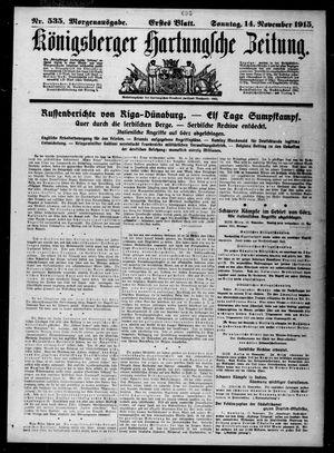 Königsberger Hartungsche Zeitung vom 14.11.1915