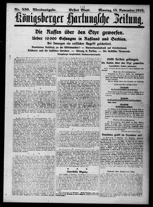 Königsberger Hartungsche Zeitung vom 15.11.1915
