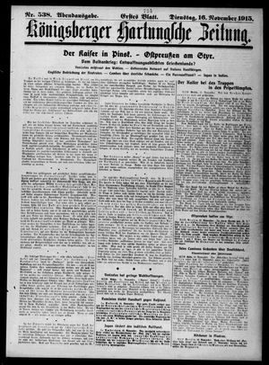 Königsberger Hartungsche Zeitung vom 16.11.1915