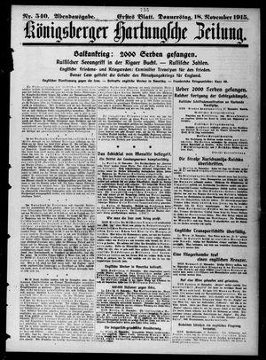 Königsberger Hartungsche Zeitung vom 18.11.1915
