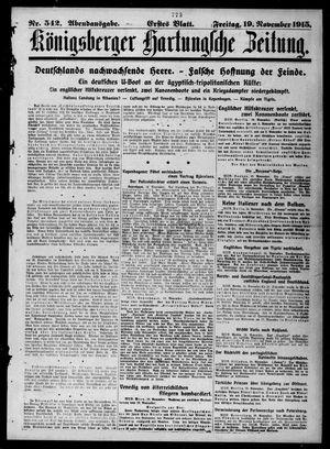 Königsberger Hartungsche Zeitung vom 19.11.1915