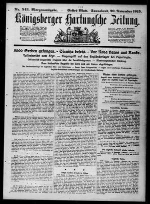Königsberger Hartungsche Zeitung vom 20.11.1915