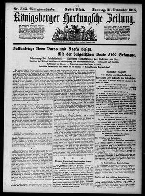 Königsberger Hartungsche Zeitung vom 21.11.1915