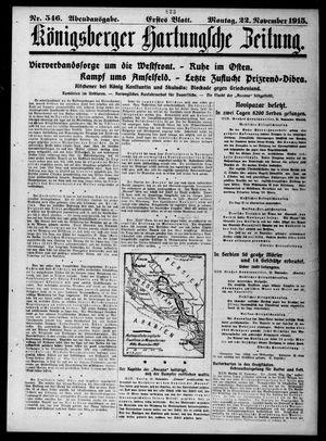Königsberger Hartungsche Zeitung vom 22.11.1915