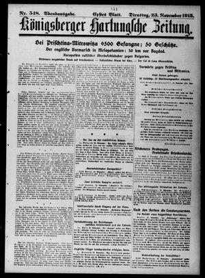 Königsberger Hartungsche Zeitung vom 23.11.1915
