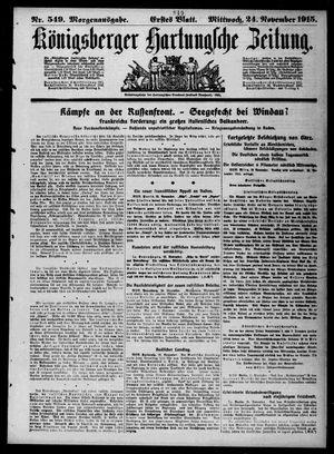 Königsberger Hartungsche Zeitung vom 24.11.1915
