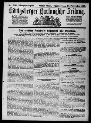 Königsberger Hartungsche Zeitung vom 25.11.1915