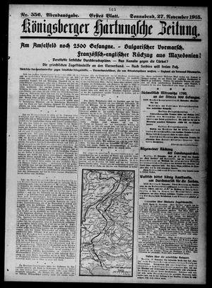 Königsberger Hartungsche Zeitung vom 27.11.1915