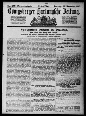 Königsberger Hartungsche Zeitung vom 28.11.1915