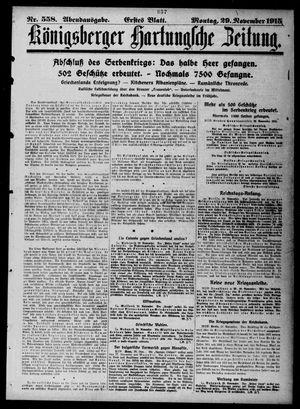 Königsberger Hartungsche Zeitung vom 29.11.1915