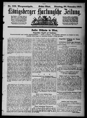 Königsberger Hartungsche Zeitung vom 30.11.1915