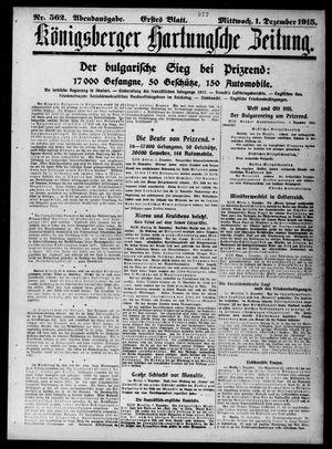 Königsberger Hartungsche Zeitung vom 01.12.1915