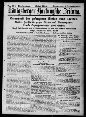 Königsberger Hartungsche Zeitung on Dec 2, 1915