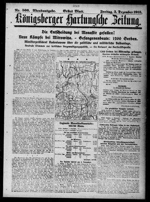Königsberger Hartungsche Zeitung vom 03.12.1915