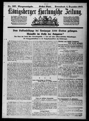 Königsberger Hartungsche Zeitung vom 04.12.1915