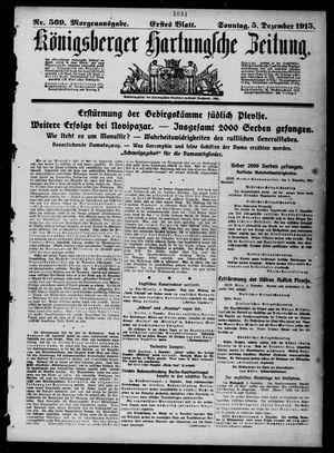 Königsberger Hartungsche Zeitung vom 05.12.1915