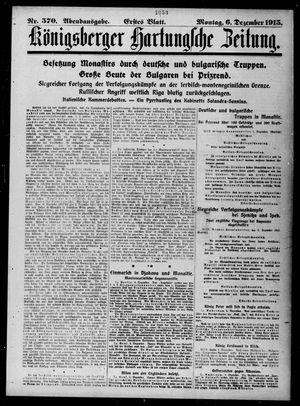 Königsberger Hartungsche Zeitung vom 06.12.1915