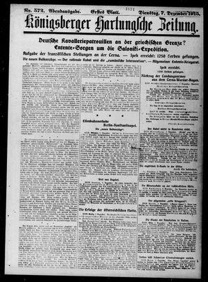 Königsberger Hartungsche Zeitung vom 07.12.1915