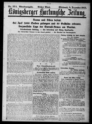 Königsberger Hartungsche Zeitung vom 08.12.1915