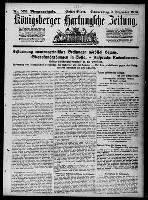 Königsberger Hartungsche Zeitung vom 09.12.1915
