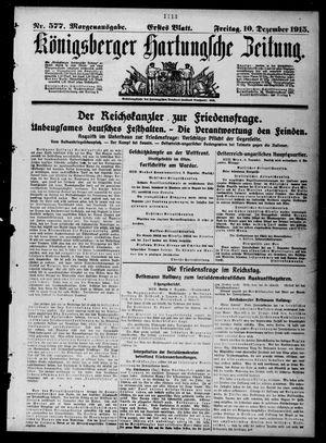 Königsberger Hartungsche Zeitung vom 10.12.1915
