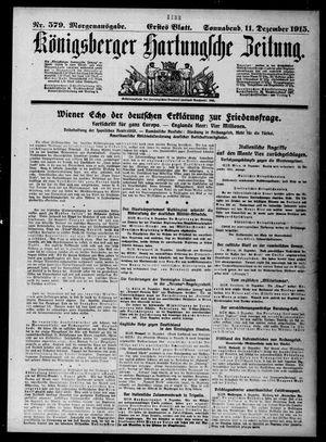 Königsberger Hartungsche Zeitung vom 11.12.1915
