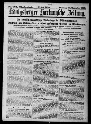 Königsberger Hartungsche Zeitung vom 13.12.1915