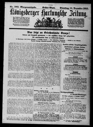Königsberger Hartungsche Zeitung vom 14.12.1915