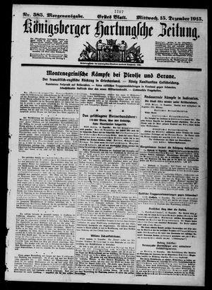 Königsberger Hartungsche Zeitung vom 15.12.1915