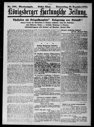 Königsberger Hartungsche Zeitung vom 16.12.1915
