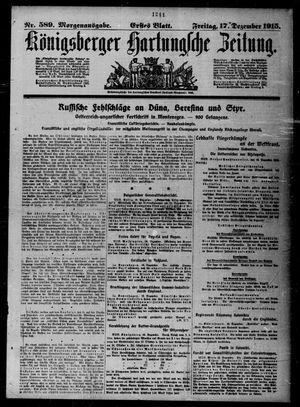 Königsberger Hartungsche Zeitung vom 17.12.1915