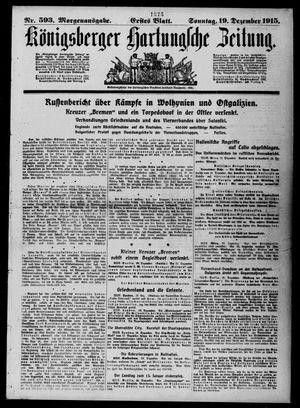 Königsberger Hartungsche Zeitung vom 19.12.1915